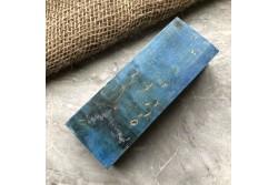 Стабилизированная карельская береза (синяя)