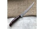 Кухонный булатный нож К002 рыбный (цветная микарта)