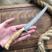Булатный нож К002 Филейный Рыбный (фултанг, натуральная К/Б)