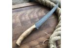 Булатный нож К002 Филейный Рыбный (фултанг,  карельская береза)