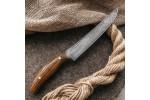Кухонный булатный нож К002 Мясной (фултанг, зебрано)