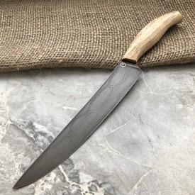 Кухонный булатный нож К002 Мясной(фултанг, ясень)