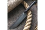 Кухонный булатный нож К004 ПЧАК (фултанг, стаб.кап клена)