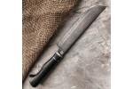 Кухонный булатный нож К004 ПЧАК (граб)