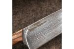 Кухонный булатный нож К004 ПЧАК (фултанг, зебрано)