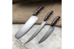 Набор кухонных ножей из литого булата №7 (из трех ножей)