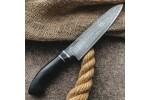 Кухонный булатный нож Сантоку Средний (граб)