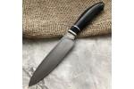 Булатный кухонный нож Сантоку Малый (стабилизированный граб)