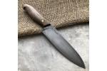 Кухонный булатный нож Сантоку Малый (фултанг, горный орех)