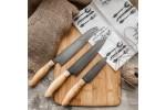 Набор кухонный булатных ножей Сантоку-1 (Большой, Средний, Малый)