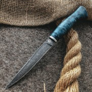 Булатный нож Тюринский (стаб.кап клена)
