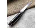 Нож кухонный из литого булата  К001 (фултанг, цветная микарта)