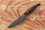 Нож кухонный из литого булата К001-орех