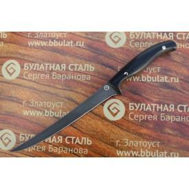 Нож кухонный из литого булата К002 (фултанг, микарта)