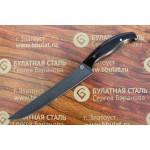 Нож кухонный из литого булата К002 Мясной (фултанг, граб)