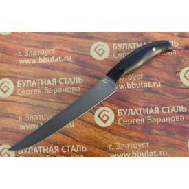 Нож кухонный из литого булата К002 Мясной (фултанг, микарта)