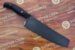 "Нож кухонный из литого булата K003-V2 ""Шеф"" - микарта"