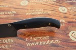 Нож кухонный из литого булата К003 Шеф (фултанг, микарта)