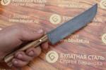 Нож кухонный из литого булата K005 Пчак-каштан