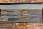 Набор кухонных ножей из литого булата №4 (из шести ножей)