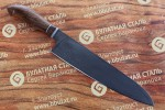 Нож кухонный из литого булата Сантоку средний  №1