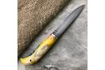 Булатный нож Малыш Макси (композит капа клена, мозаичный пин)