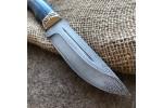 Подарочный нож R010 (Булат, стабилизированная карельская береза)