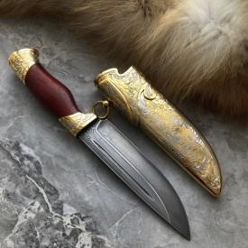 Подарочный булатный нож R010 Традиция