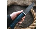 Булатный нож Беринг (стаб. карельская береза)