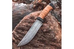 Булатный нож Притёс (наборная береста)