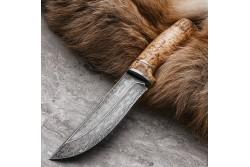 Булатный нож Притёс (карельская береза)