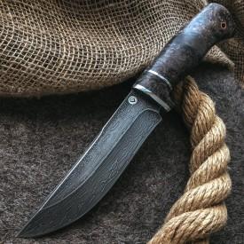 Булатный нож Притёс (стабилизированный кап клена)