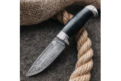 Булатный нож R001 (алюминий, наборная кожа)