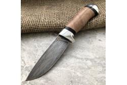 Булатный нож R001 (горный орех, алюминий)