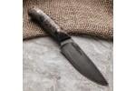 Булатный нож R001 (фултанг, коричневая стаб.карельская береза)