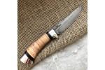 Булатный нож R002 (наборная береста, алюминий)