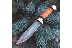 Булатный нож R003 (наборная береста, алюминий)