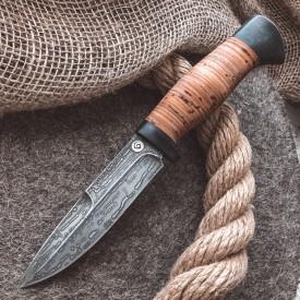 Булатный нож R003 (наборная береста)