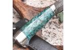 Булатный нож R006 (алюминий, стаб. карельская береза)