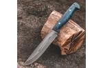 Булатный нож R006 Финский (фултанг, стаб. карельская береза)