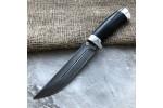 Булатный нож R006 (алюминий, наборная кожа)