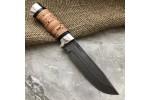 Булатный нож R007 (наборная береста, алюминий)