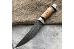 Булатный нож R008  (наборная береста+алюминий)
