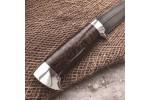Булатный нож R009 (стаб. кап клена, алюминий)