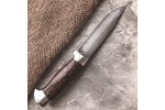 Булатный нож R009 (стаб. карельская береза, алюминий)