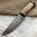 Булатный нож R010 (кавказский горный орех)