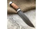 Булатный нож R015 (наборная береста, алюминий)
