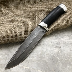Булатный нож R015 (наб.кожа, алюминий)