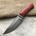 Булатный нож Степчак Малый (красная стаб.карельская береза)