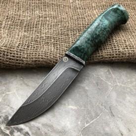 Булатный нож Степчак Малый (зеленая стаб.карельская береза)